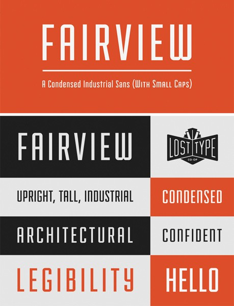 Ücretsiz 100 font fairview