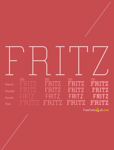 Ücretsiz 100 font Fritz