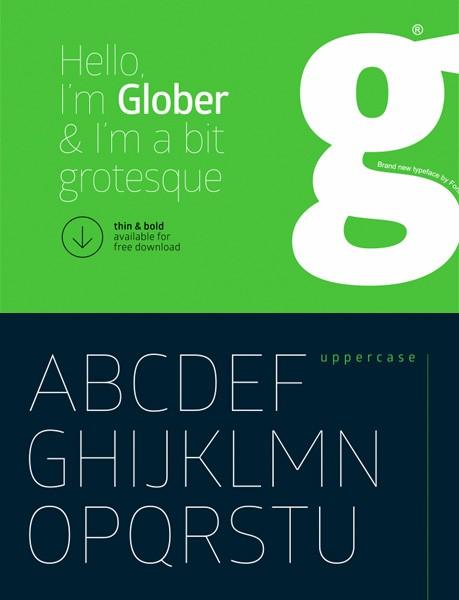 Ücretsiz 100 font Glober