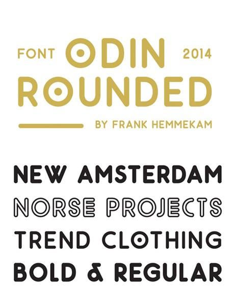 Ücretsiz 100 font Odin Rounded