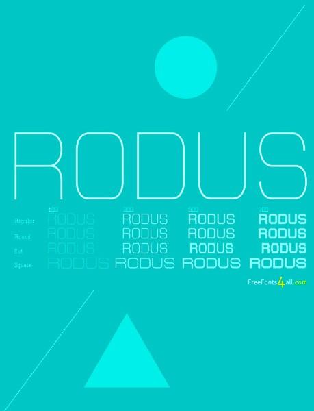 Ücretsiz 100 font Rodus